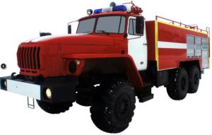 Автоцистерна пожарная АЦ 8,0-40 (Урал 5557) 1к