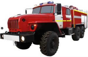 Автоцистерна пожарная АЦ 6,0-40 (Урал 5557) 2к